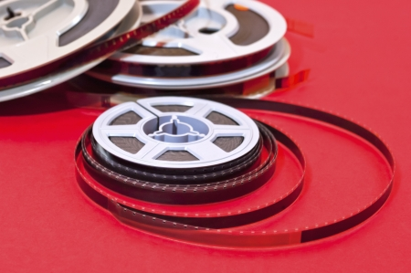 Still life of 8mm cine film  reels photo