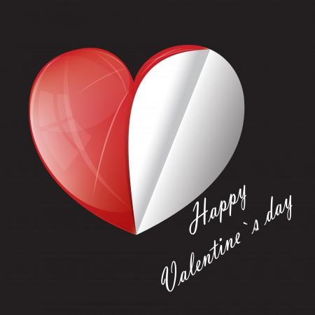 Valentine s day hearth background Stock Vector - 17303236