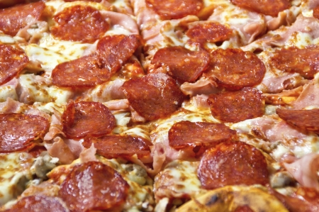 Tasty pizza with sausage, closeup  Stock Photo - 17544775