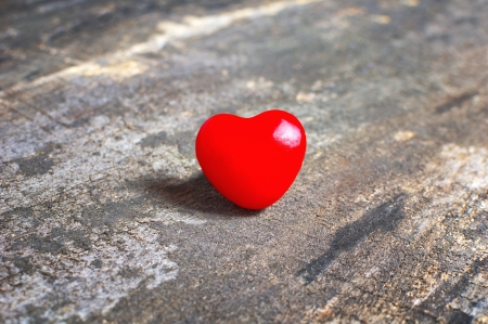 Valentines Day  Red heart on old wooden background Stock Photo - 17544772