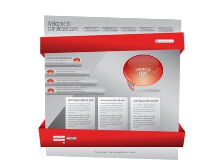 Website Design Template, eps10 Stock Vector - 17703383