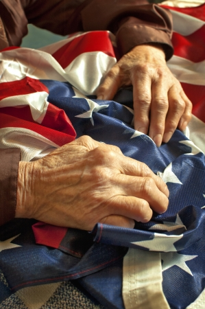 veterans day: Old woman