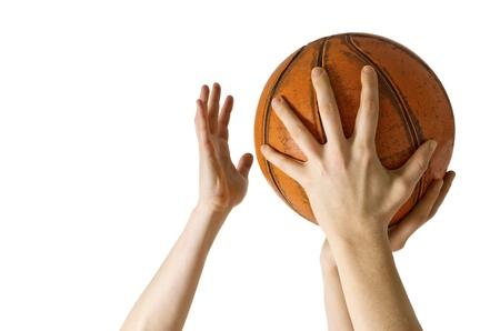 흰색 배경에 고립 농구 블록