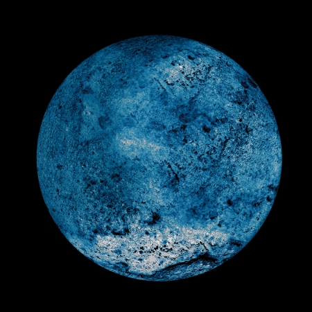 Blue moon in the space Stock Photo