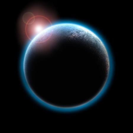 공간 일출 행성
