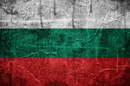 Bulgarian overlaid with grunge texture