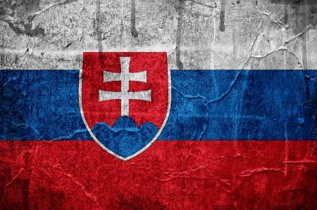 Flag of Slovakia overlaid with grunge texture Stock Photo