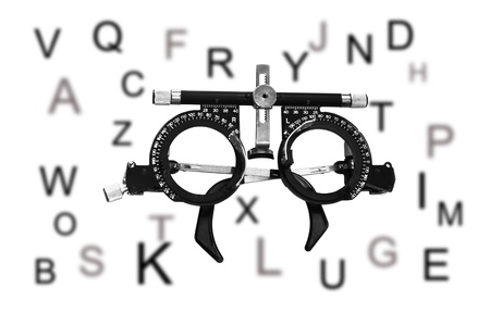 The frame to adjust the lens optometry  Optometrist diopter