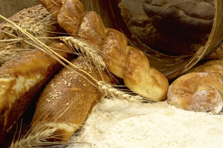 Tasty fresh crunchy and warm home made bread