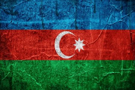 Flag of Azerbaijan overlaid with grunge texture