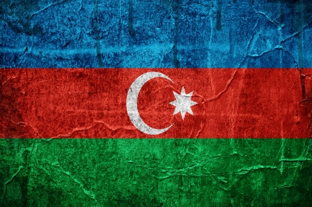 azerbaijanian: Flag of Azerbaijan overlaid with grunge texture