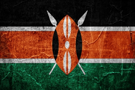 Flag of Kenya overlaid with grunge texture photo