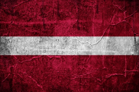 Flag of Latvia overlaid with grunge texture Stock Photo