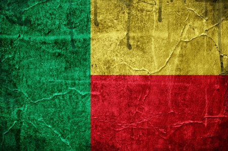 Flag of Benin overlaid with grunge texture Stock Photo