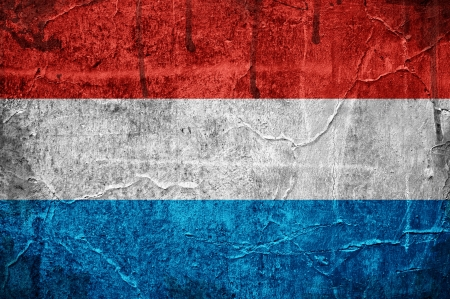 Flag of Luxembourg overlaid with grunge texture