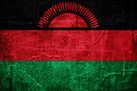 Flag of Malawi overlaid with grunge texture Stock Photo