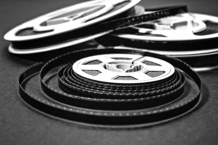 Still life of 8mm cine film reels