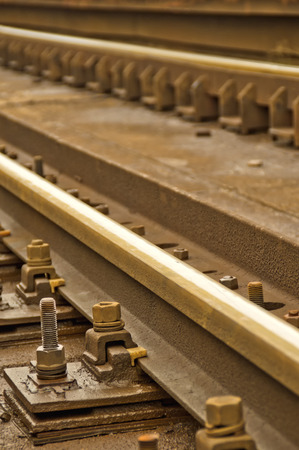 dirty bussines: Angle shot of a railway track