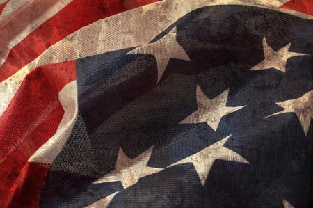 american flags: Cierre de la bandera de Espa?a superpone con textura grunge.