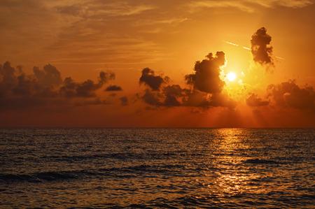 Magic sunrise over the sea