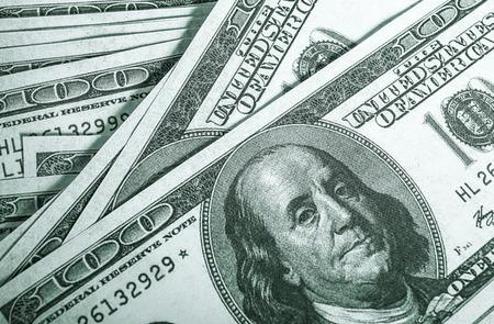 Hundred dollar bills for background Stock Photo