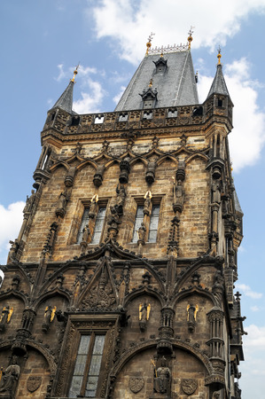 The Prague Powder Tower is a high Gothic tower in Prague