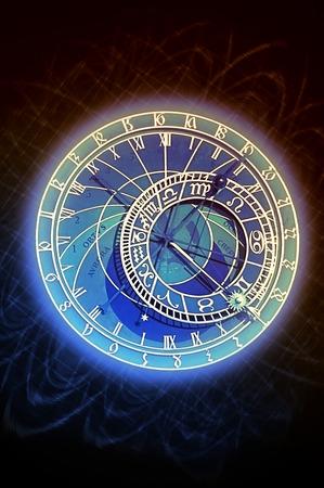 europe closeup: The famous astronomical clock in Prague, Czech Republic.