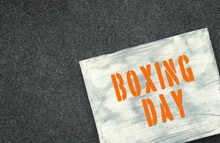 Upcoming holiday announcement, Boxing day.