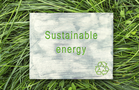 Message about ecological awareness,Sustainable energy.