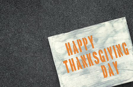 upcoming: Upcoming holiday announcement, Happy Thanksgiving Day. Stock Photo