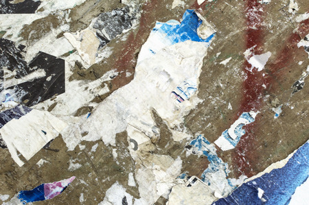 Torn posters grunge textures and backgrounds. Stock Photo