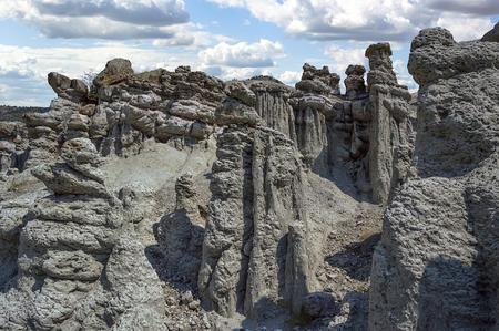 Stone dolls at rocky hills at village Kuklica near Kratovo, Macedonia.