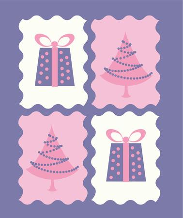 postcard: Christmas postcard Illustration
