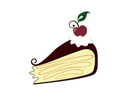 スワール: 桜のケーキ  イラスト・ベクター素材