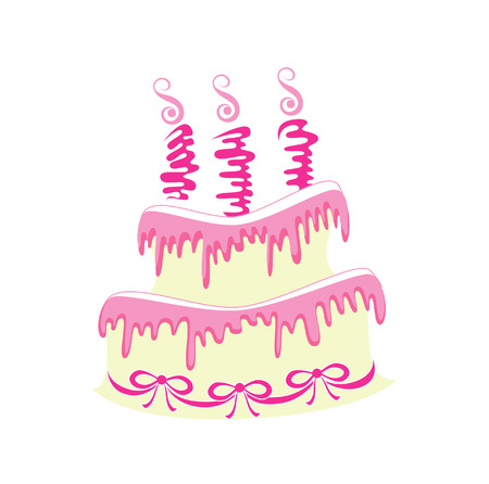 torte: Cake with candles Illustration