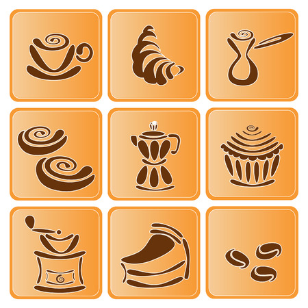Tasse Kaffee und Bohnen Standard-Bild - 3910256