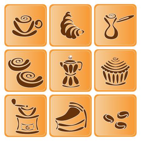 �pastries: Taza de caf� y frijol