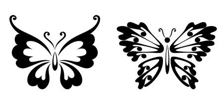 蝶の純粋な黒い線