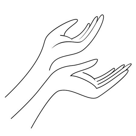 2 つの女性の手