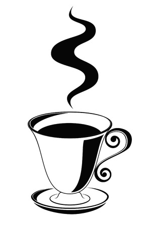 Steaming coffee cup Illustration