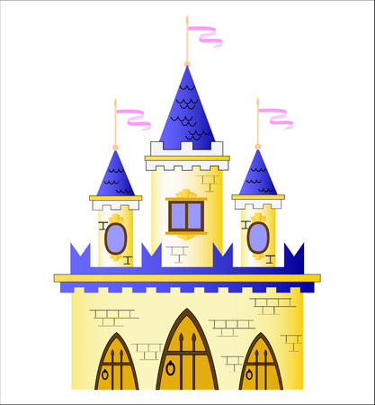 royality: Fairy-tale castle Illustration