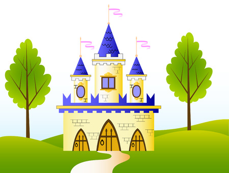 Fairy-tale castle Illustration