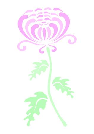 Ein einsamer Chrysantheme Standard-Bild - 4584990