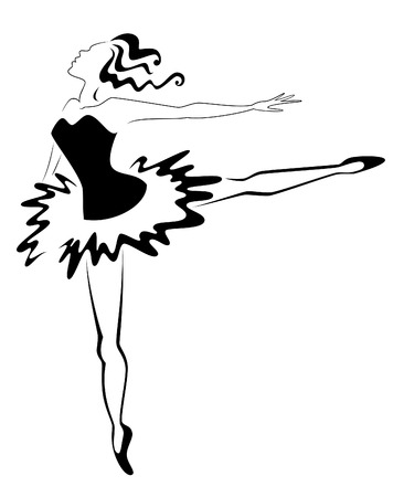 Ballet lady Stock Vector - 4827195