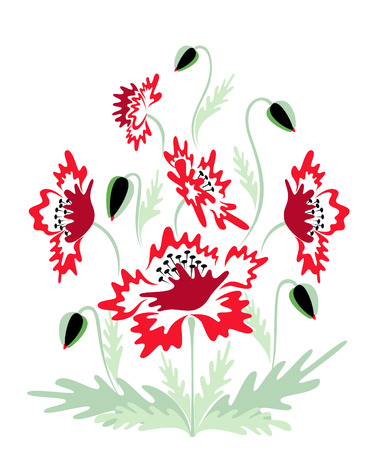 Red poppies background Imagens - 4913222