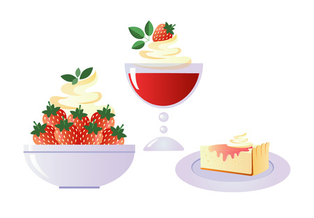 Different species of summer desserts