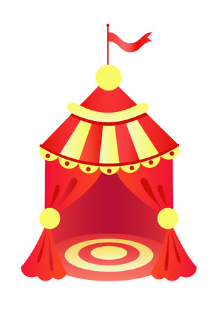 tarpaulin: Yellow and red circus tent