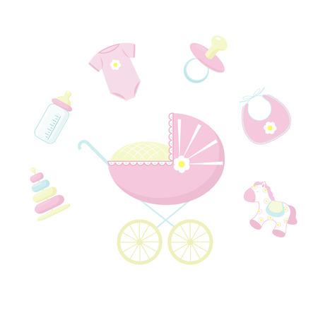 赤ちゃんのアイコンを設定  イラスト・ベクター素材