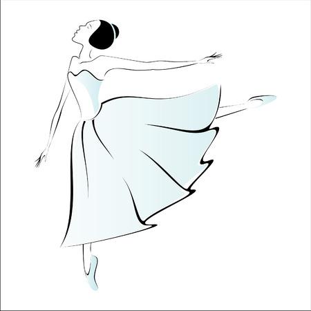 ballerina danza classica: Ballerino esegue Vettoriali
