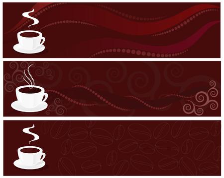 スワール: 渦巻き模様の背景の上にコーヒーのカップ  イラスト・ベクター素材